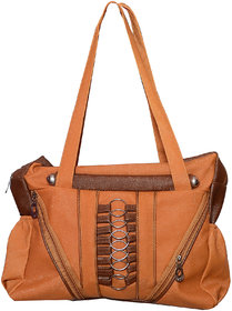 Foax Fashion Ladies Hand-Held Bag (Tan)