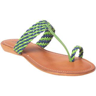 Msc Women Synthetic Green Sandal
