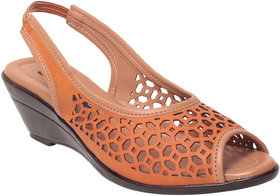 Msc Women Synthetic orange Sandal
