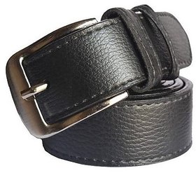 Sunshopping Mens Black Leatherite Needle Pin Point Buckle Belt