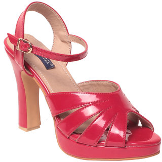 Msc Women Synthetic Red Heels