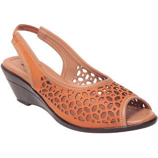 Msc Women Synthetic orange Sandal