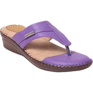 Msc Women Synthetic Purplee Sandal