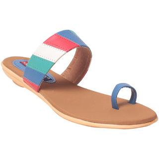 Msc Women Synthetic Blue Sandal