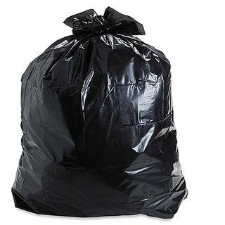 300 Pieces Black Medium Disposable Garbage / Dust Bin Bag (19X21 Inch)