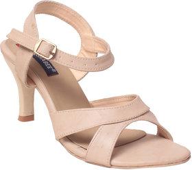 Msc Women Synthetic Cream Heels