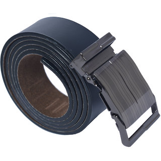 Ws Deal Black Formal Auto Lock Buckle Belt Free Size (28 to 44)