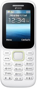 CallBar Bold 310 DUAL SIM keypad mobile phone 1.8 inch display with built in MUSIC PLAYER /CAMERA/ FM(White Color)