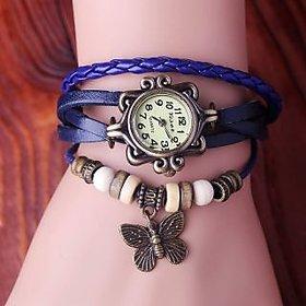 i DIVA'S LIFE Vintage Watches for Women Genuine Leather Bracelet Watch (pruple colour)