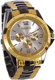 Rosra Golden Black Classic Officially Watch For Men