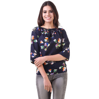 201fcddf2b312 Buy Fine Multi Printed Boat Neck Crop Tops For Women Online   ₹409 ...
