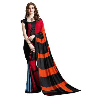 Aruna Sarees Designer Crepe Printed Saree with  Blouse