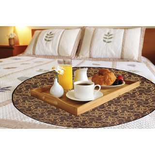 Glassiano Gold Printed waterproof and oilproof Round bed serving mat
