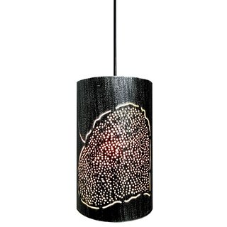 AH  Silver shading Leaf Design Iron  Pendant Ceiling Hanging Lamp ( Pack of 1 )