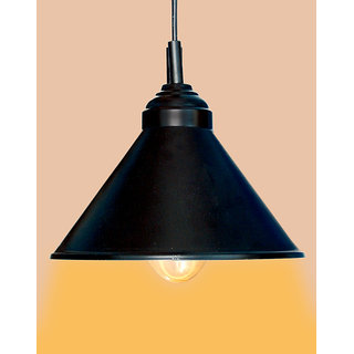 AH  Black Color Iron Pendant Ceiling Hanging Lamp ( Pack of 1 )