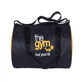 Dee Mannequin Black Orange Fabric Gym Bag