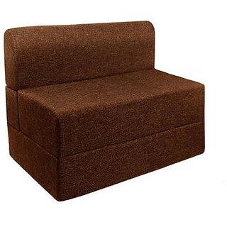 Earthwood - Single Sofa cum Bed in Brown
