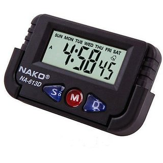 AutoRight - Nako Car Dashboard / Office Desk Alarm Clock and Stopwatch with Fl