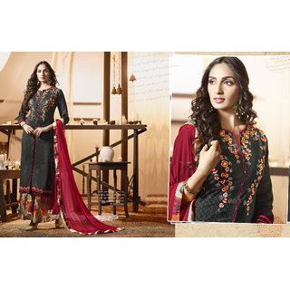 Aaina Cotton Satin Printed With Work Women