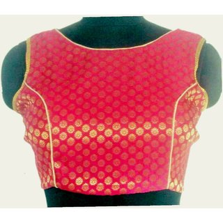 Stitch O Fab Pink Brocade Women blouse-070 SOFpbwb070