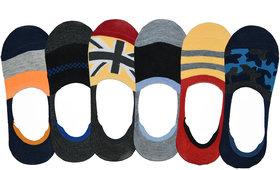 Pack Of 6 Loafer Socks Combo