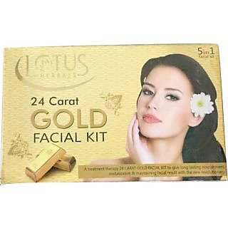 Lotus Herbals 24 Carat Gold Facial Kit (Set of 5)