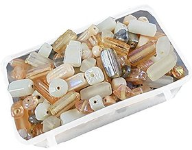 eshoppee glass beads mixing 100 gm 5-15mm approx 160 pcs for jewellery art and craft making diy kit