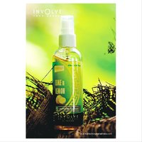 Involve Your Senses (Lime N Lemon) Spray Air Freshener : Natural Fragrance [Made In India]