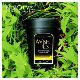 WISHLIST Gel Car Perfumes For Cup Holder From Involve Your Senses:Lovely Lemon