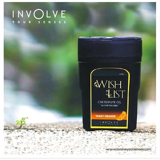 WISHLIST  Gel Car Perfumes For Cup Holder From Involve Your Senses:Tangy Orange