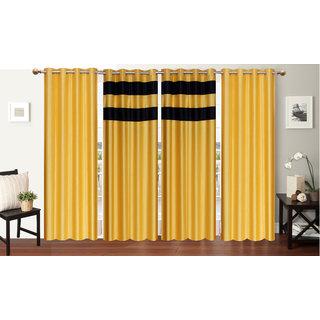 Decor Factory Door Curtains 4x7 Feet, Set of 4