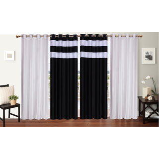 Decor Factory Door Curtains 4x7 Feet, Set of 4