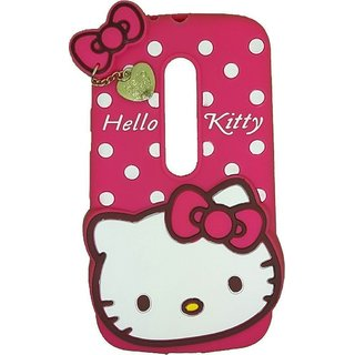 huge discount b75f6 58fec Motorola Moto G3 G 3rd Gen / Moto G Turbo Back Cover - Dream2Cool Printed  Hello Kitty Soft Rubber Silicone Pink Back Cover Case For Motorola Moto G3  G ...