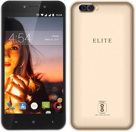 Swipe Elite Dual (5 Inch, 4G Volte, 1GB + 8GB, 8MP+ 2MP Dual Camera, 5MP, 3000mAh Battery, Gold)