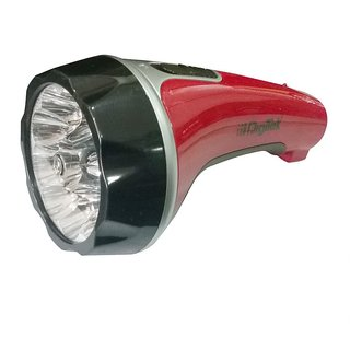 Digitek DRF 10 Led Rechargeable Torch Red