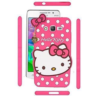 pretty nice 7b171 82063 Samsung Galaxy E5 Back Cover - Dream2Cool Printed Hello Kitty Soft Rubber  Silicone Pink Back Cover Case For Samsung Galaxy E5 Back Cover-Pink