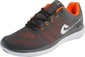 Max Air Sports Running Shoes 8876 Dark Grey Orange