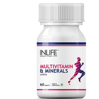 INLIFE Multivitamin and MultiMinerals, 60 Tablets