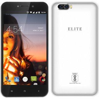 Swipe Elite Dual (5 Inch, 4G Volte, 1GB + 8GB, 8MP+ 2MP Dual Camera, 5MP, 3000mAh Battery, Silver)