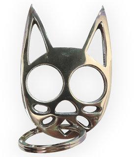 Cat Knuckle Keychain SS Brass For Women Self Defense
