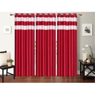Decor Factory Door Curtains 4x7 , Set of 3