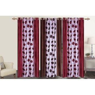 Decor Factory Door Curtains 4x7 , Set of 3