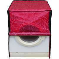 Glassiano Dark Pink Colored Washing Machine Cover For BPL BFAFL65WX1 Fully Automatic Front Load 6.5 Kg
