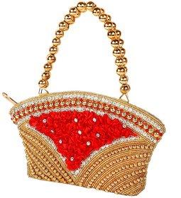 Berlina Fashion Gold Solid Handbag - 134414770