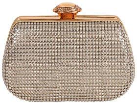 Berlina Fashion Gold Solid Handbag