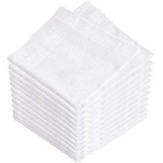 Tahiro White Cotton Handkerchiefs - Pack Of 12
