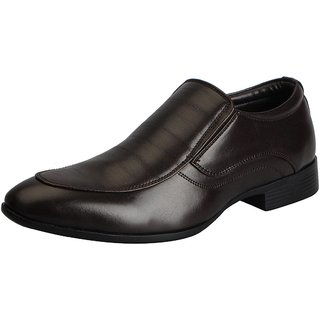 Bata Brown Mens Formal Slip Ons