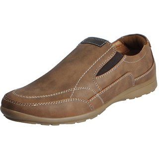 Bata Brown Mens Casual Loafers