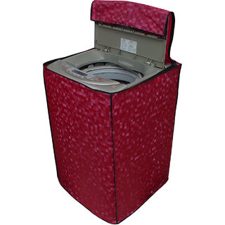 Glassiano Dark Pink Colored Washing Machine Cover For Samsung WA90J5710SG Fully Automatic Top Load 9 Kg