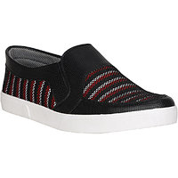 Koxko 1703 Black Red Men Casual Slip-On 10 UK